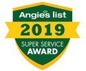 Angies List Super Serivce Award 2019